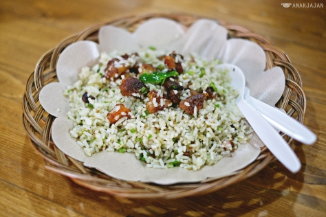 Pork Green Chili Fried Rice IDR 42k - Legoh