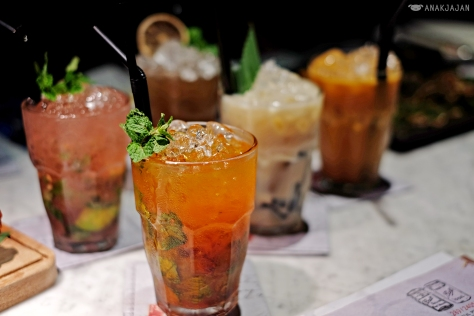 Watermelon Cooler IDR 35k, Soymilk Pandan Grassjelly IDR 35k, Sparkling Sour Plum IDR 35k, Lemonade Coke Mint Soda IDR 35k, Iced Kopi Cham IDR 35k
