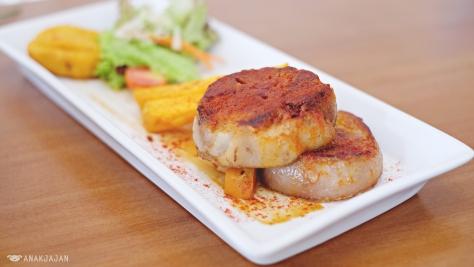 Seared Pork Shank with Spanish Cheese IDR 135k