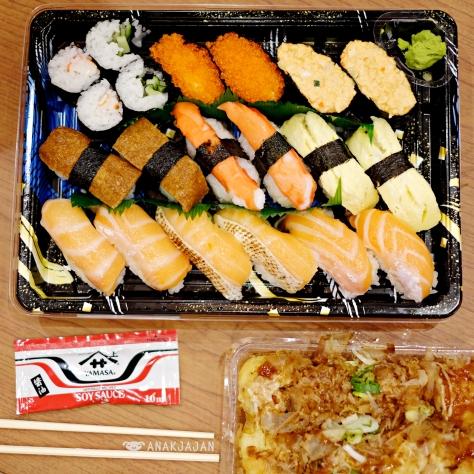 Sushi set IDR 59k & Takoyaki