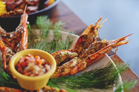 Grilled Prawn IDR 175k (1pound)/ IDR 390k (2pounds)