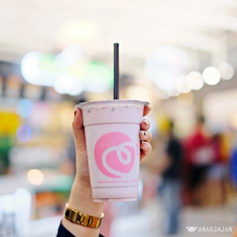 Double Taro Milk tea IDR 25k