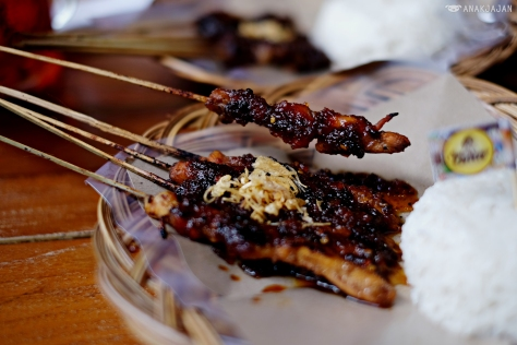 Chicken Satay IDR 33k, Lamb Satay IDR 43k, Chicken Mix Lamb IDR 40k, Rice IDR 5k