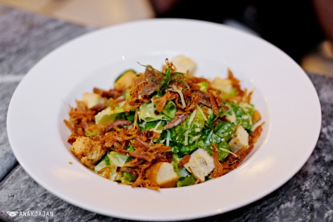 Caesar Salad IDR 128k + Pork Floss IDR 70k