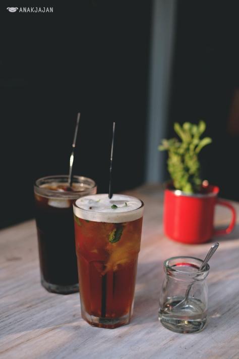 Iced Coffee IDR 35k // Mint Mojito Iced Tea IDR 35k