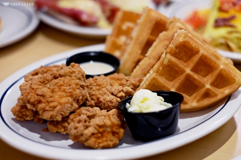 Chicken & Waffles AED 45