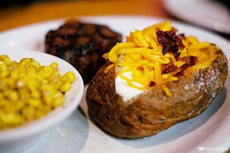 buttered corn + baked potato