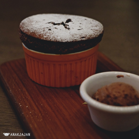 Souffle with Ice Cream IDR 95k - Chocolate