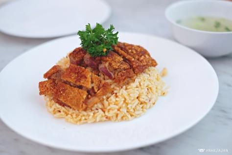 Bangka Roast Pork with Butter Rice IDR 128k