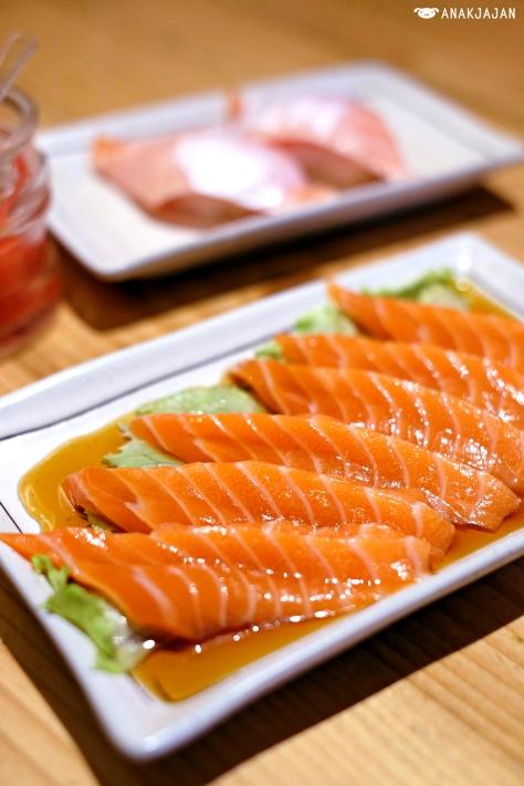 Salmon Wafu Carpaccio IDR 45k