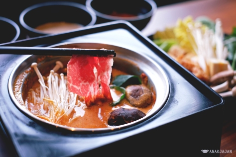 Wagyu with Spicy Tonyu soup