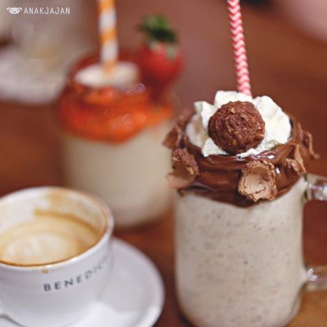 Nutella Milkshakes IDR 50k