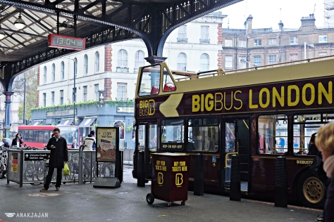 Big Bus London at Victoria Station