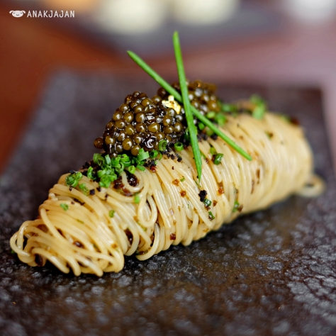 Cold Angel Hair with Kristal Caviar and Black Truffle
