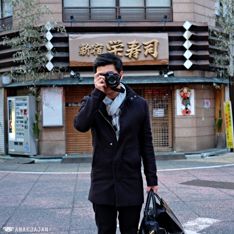 Mr. Jajan & his new X-T1 bought in Tokyo
