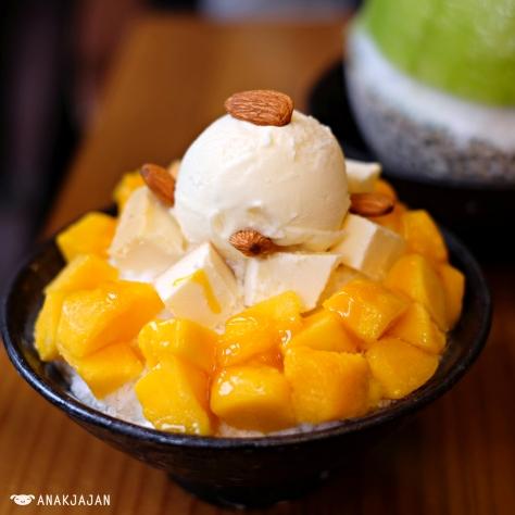 Mango Cheese Bingsu KRW 9.500