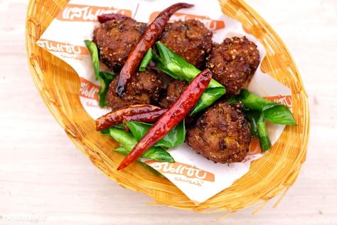 Deep Fried Spicy Minced Pork Salad THB 110 Coconut Juice THB 60