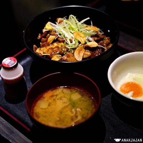 Tontoki Don Set IDR 86k + Onsen Tamago IDR 15k