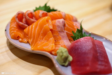 Maguro Sashimi IDR 15k/ 2pcs, Salmon Belly Sashimi IDR 25k/ 2pcs