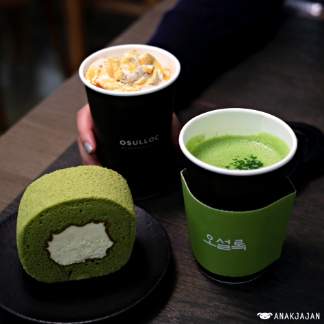 Greentea Latte Hot KRW 5.500 Roasted Greentea Caramel Latte Hot KRW 6.000 Greentea Roll Cake KRW 5.000