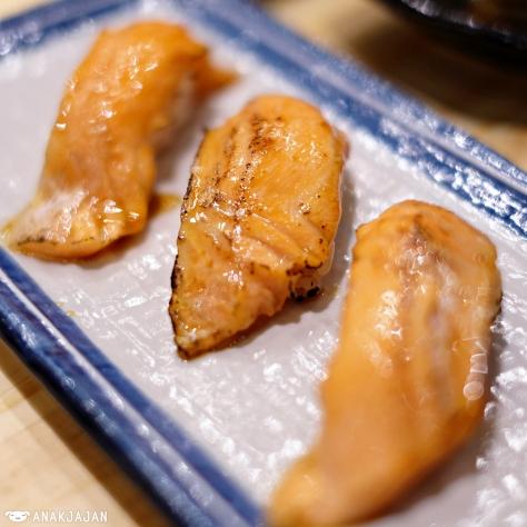 Salmon Belly Aburi Sushi IDR 25k/ 2pcs