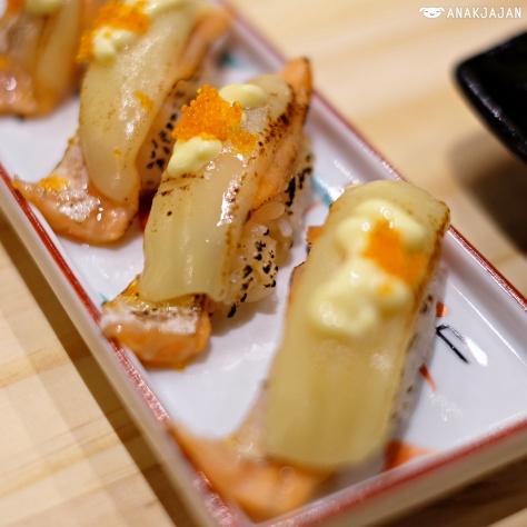 Salmon Aburi Cheese IDR 20k/ 2pcs