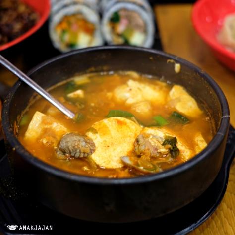 Sundubu Jjigae (Spicy Tofu Stew) KRW 6.500