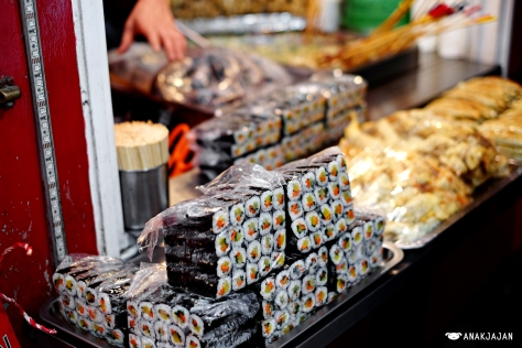 kimbap from street vendor