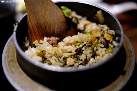 rice with veggie, edamame, seaweed, tofu