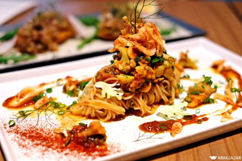Capellini with Sakura Shrimp and Truffle Oil IDR 85k
