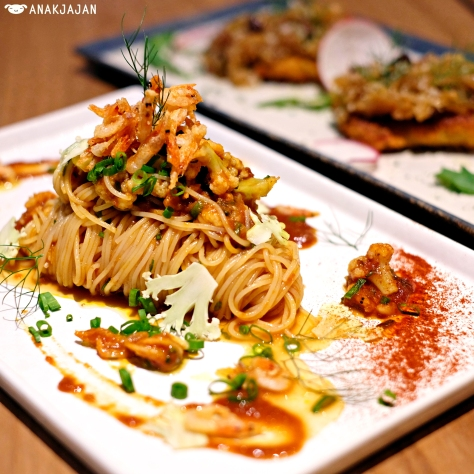 Capellini with Sakura Shrimp and Truffle Oil IDR 85k