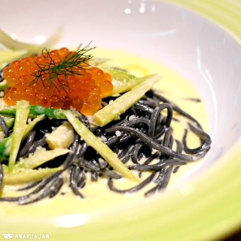 Nero Spaghettini Asparagus Ikura IDR 135k