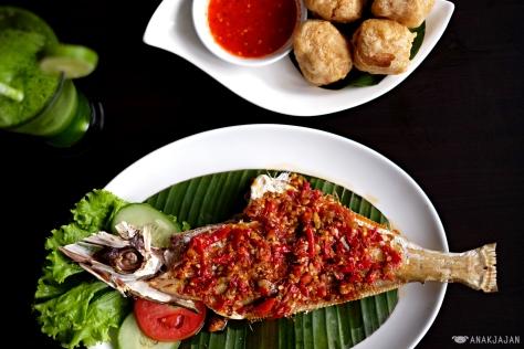 Ikan Sukang Bakar Rica IDR 160k (8 ounces)