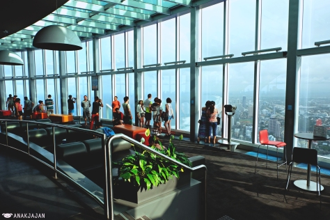 the observation deck at 77th floor