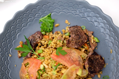 Black Angus Fried Rice with Chili Jam IDR 135k