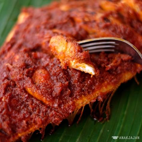 Ikan Sukang Bakar Saus Jali (Grilled LeatherJacket Fish)