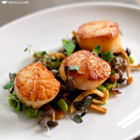 Pan Roasted Alaskan Scallops IDR 150k