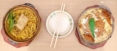 Curry Udon IDR 78k, Tonkatsu Tamagotoji IDR 85k