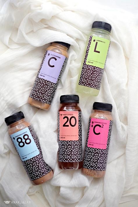Coffee IDR 28k, Lemonade IDR 28k, Choco #88 IDR 22k, Tea #20 IDR 14k,Chocofee IDR 28k