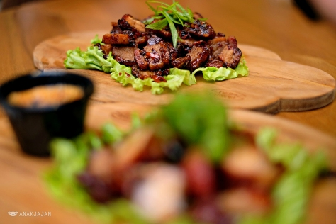Stir Fried Roasted Pork Belly IDR 65k