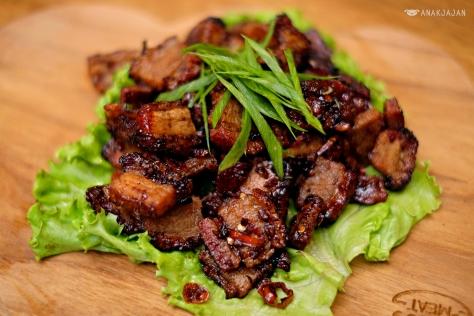 Stir Fried Roasted Pork Belly IDR 65k