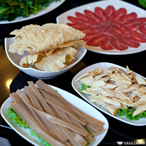 Beancurd Skin IDR 42k // Beancurd Skin IDR 42k // Chinese Sweet Potato Noodle IDR 48k // Premium Beef IDR 128k