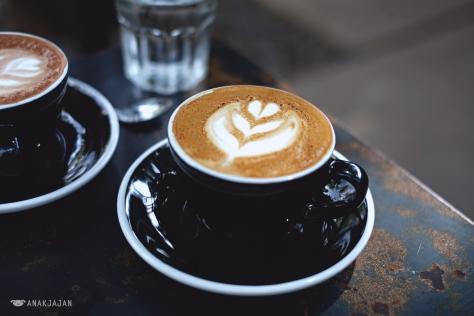 Cappuccino IDR 30k + extra shot of espresso IDR 10k