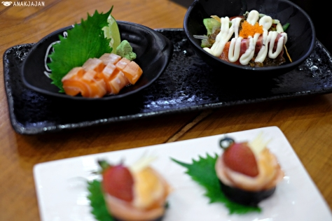 Sashimi Set (Toro Sal, Sal Carpaccio) IDR 48k