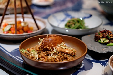 Braised Hele Crab with Japanese Rice in Hoisin Sauce IDR 218k
