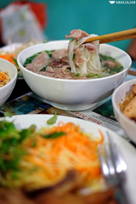 Pho Bo or beef noodle soup VND 40k