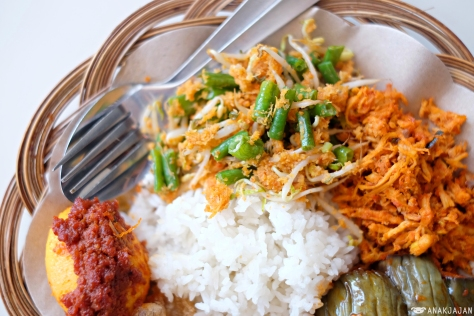 Nasi Tunjuk, Nasi (Rice) IDR 5k, Sayur (Side Dish) IDR 7-9k