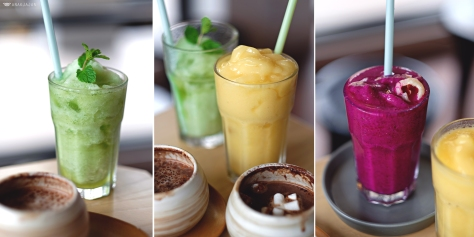 Green Granita (Lemon & Mint) IDR 25k // Yellow Granita (Passion Fruit & Mango) IDR 25k // Red Granita (Dragon Fruit & Lychee) IDR 25k