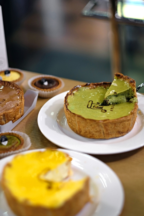 Matcha Cheese Tart with Shiratama & Azuki IDR 189k