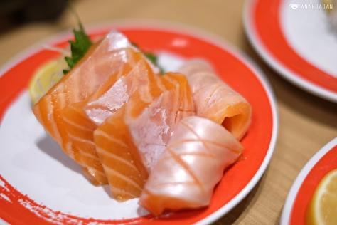Salmon Belly Sashimi IDR 46k